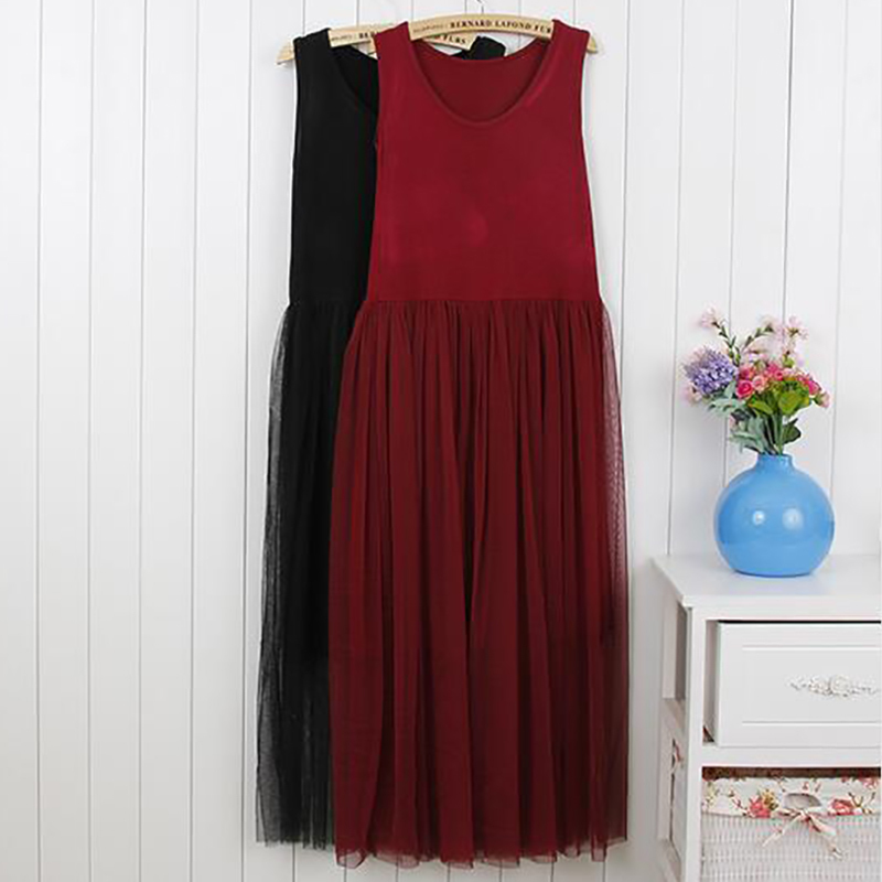 SISPELL Tulle Summer <font><b>Dress</b></font> Vest Midi Long Beach <font><b>Dresses</b></font> Women Sleeveless <font><b>Sexy</b></font> Tunic Female Clothes Korean <font><b>Big</b></font> Plus <font><b>Size</b></font> Fashion image