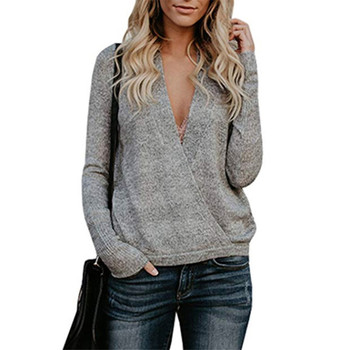 2018 Autumn Winter Sweaters Women Fashion Warm Pullover Women Knitted Sweater Female V-Neck Long Sleeve Loose Pull Femme Hiver