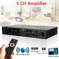 Wireless Version USB/SD Audio Amplifier 1120W 5CH Bluetooth Power Amplifer Stereo Surround Home Karaoke Cinema