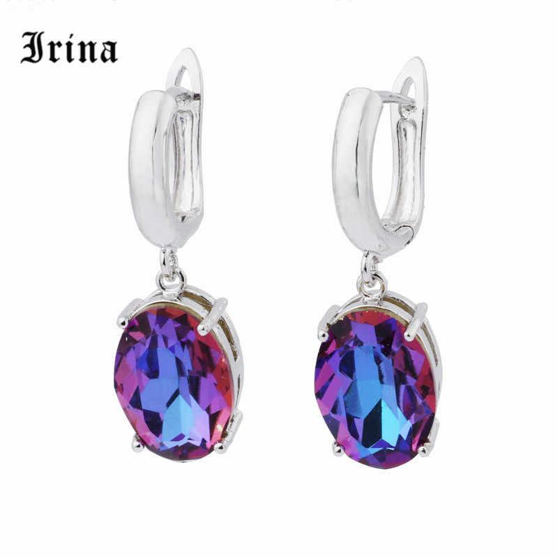 Irina 585 In Oro Rosa di Lusso e Charme Colorful Orecchini Orecchini a pendaglio per le donne Costume gioielli Pendientes Mujer Moda