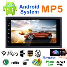DC12V ультра-тонкий 7-дюймовый 2DIN Android 8,1 автомобильный мультимедийный плеер gps навигатор FM/AM радио WI-FI Bluetooth вызовы Dual USB