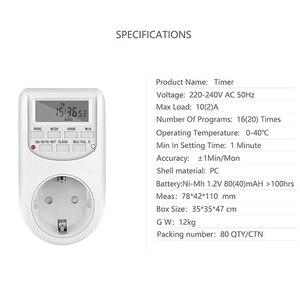 Image 5 - Spina di UE di Smart Digital Timer Presa di Risparmio Energetico Interruttore di Alimentazione 230V AC Regolabile Impostazione Programmabile di Orologio/On /Off Tempo