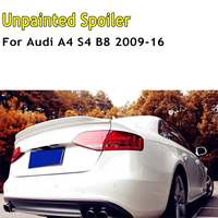 ABS Unpainted Primed C Style Rear Trunk Lid Spoiler Wing Lid For Audi A4 S4 B8 2009 2010 2011 2012 2013 2014 2015 2016