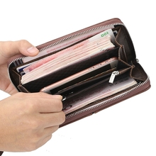 Men's Clutch Bag Long Zipper Wallet Pu Leather Phone Bag Business Casual Leather Bag Clutch Bag недорого