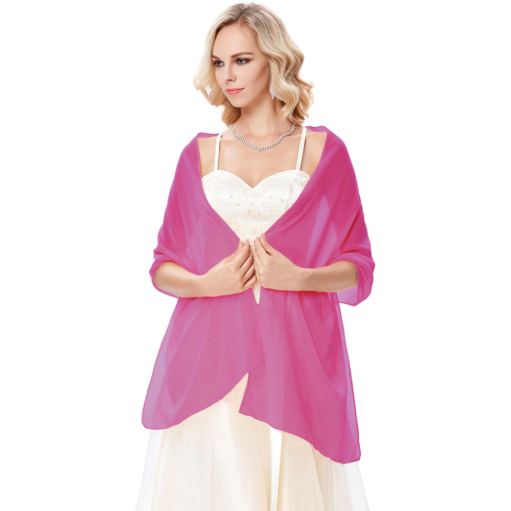 women Chiffon Neckerchief Bridal Evening Dress Shawl   Scarf     Wrap   Neckerchief