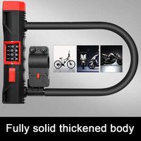 Anti Hydraulic Shear Anti Theft Lock Battery Car Lock Password Lock U shaped Motorcycle Electric Bicycle U lock With Bracket