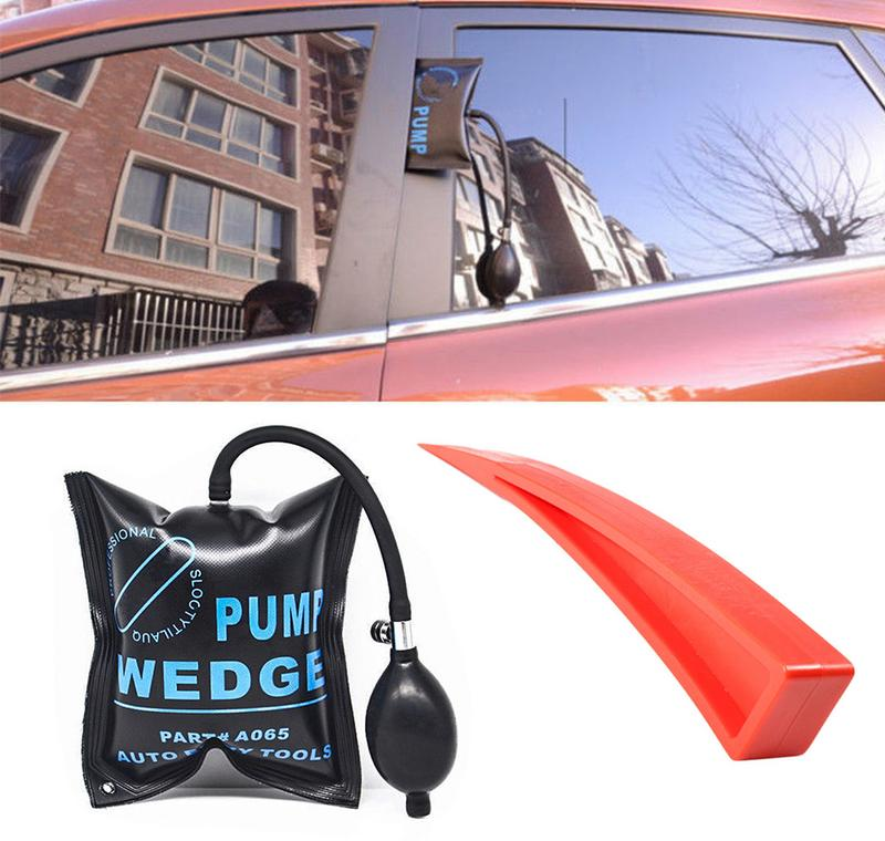 2x Pump Wedge Inflatable Shim For Car Door Window Shim Entry Open Hand Tool Kits