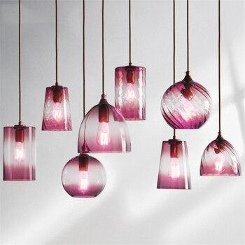 Post-modern LED Pendant Lights Industrial Glass Pendant Lamps E27 Lights Lighting Cord Kitchen Restaurant Living Room Hanglamps