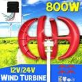 800 W Turbine Eoliche + Regolatore 12 V 24 Volt 4 Lama Orizzontale Casa del Vento di Potenza del Generatore di Mulino A Vento di Energia Turbine carica