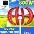 800 W Windturbines + Controller 12 V 24 Volt 4 Blade Horizontale Thuis Wind Generator Power Windmolen Energie Turbines lading