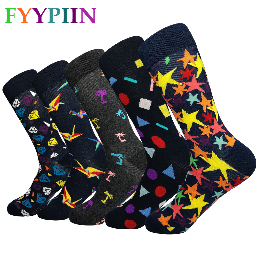 Men Socks  2019 New Socks High-quality Lengthen And Increase The Fashion Casual Latest Design Interesting Clothes Cotton Socks