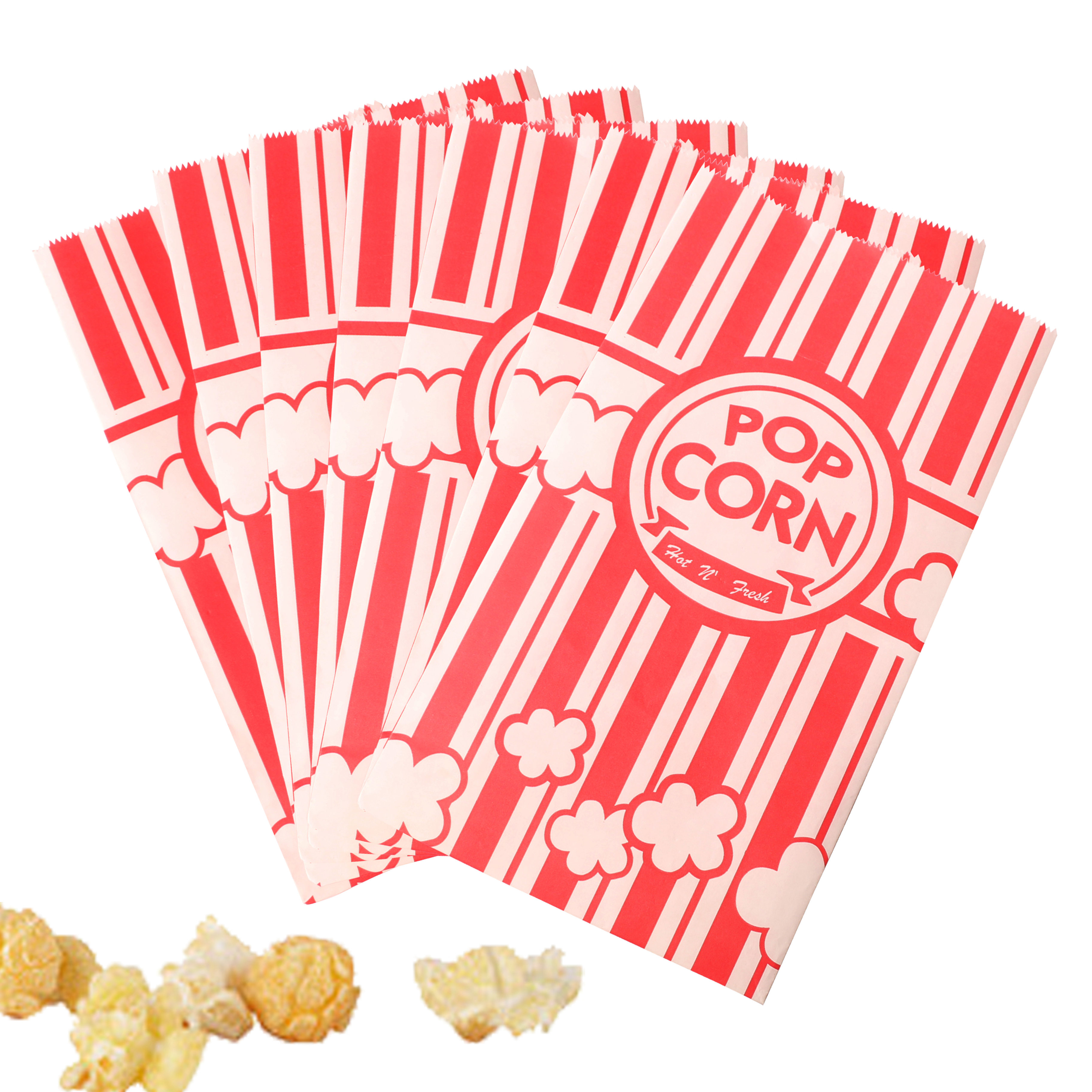 12Pcs Kraft Paper Bags Candy Gift Bags Popcorn Boxes Dessert Table Candy Sanck Food Packaging Bag Birthday Movie Party Supplies