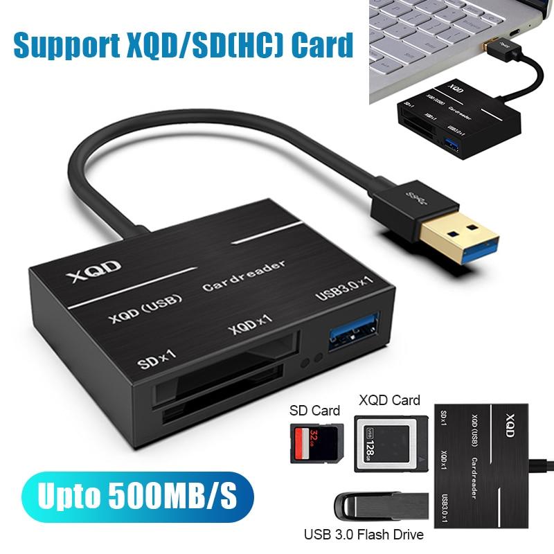 All-in-One XQD SD Card Reader 500MB//s High Speed XQD2.0 USB3.0 HUB Adapter Kits
