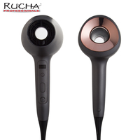 RUCHA Professional Salon Hair Dryer With Touch Sensor Ionic Hair Blow Dryer 1600w 6 Speed And Heat Settings DC Motor Hair Dryer