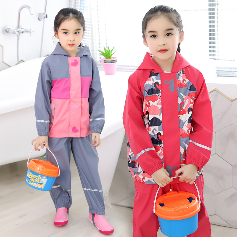85-130cm Waterproof Rain Coat Poncho Jackets Outdoors Rainsuit Raincoat For Children Kids Chubasqueros (only Jacket)