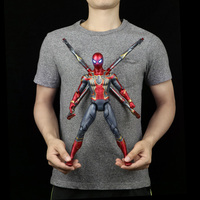 Marvel Genuine Authorization Spiderman Iron Man Captain America toy model activity doll The Avengers4