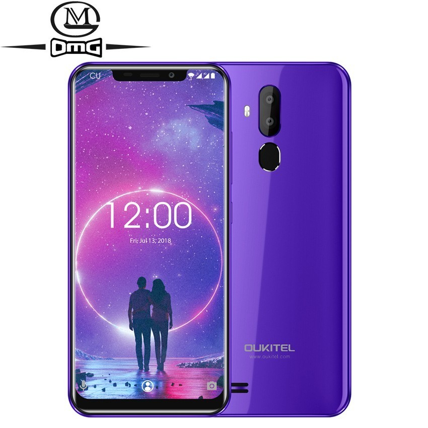 "OUKITEL C12 Face ID Android 8.1 6.18"" 19:9 Smartphone Fingerprint recognition MT6580 Quad Core 2GB +16GB Unlock Mobile Phone"