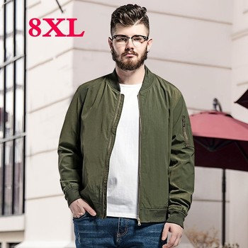 2019 new large plus  size  8XL 7XL 6XL Spring Autumn Men Jackets Solid Fashion brand Coats Male Casual Slim Jacket Men Outerdoor