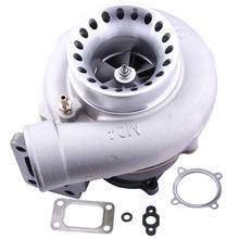Турбонагнетатель турбонагнетатель GT3582 GT35 AR0.70 AR 0,63 Анти Всплеск T3 GT30 турбо компрессор корпус 4 болта двигатель сбалансированный