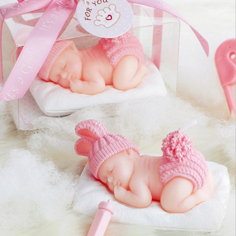 1 stuks Slaap Baby Kaars Cake Topper Blauw/roze Kaars Baby Shower Decoraties Baby Honderd Dagen DIY Verjaardagsfeestje kids-C