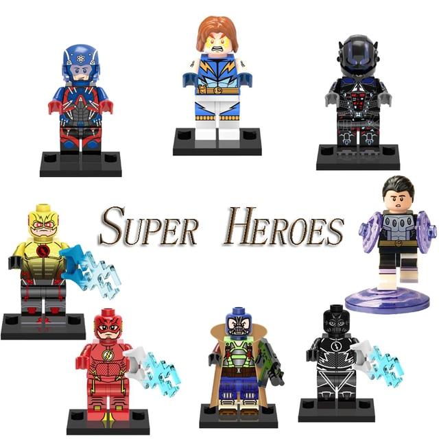 DC Super Heroes Legoing O Flash Átomo Cósmica Menino Super-heróis Bane Preto Flash UMA Bomba-Move Tijolo Figuras Blocos para As Crianças