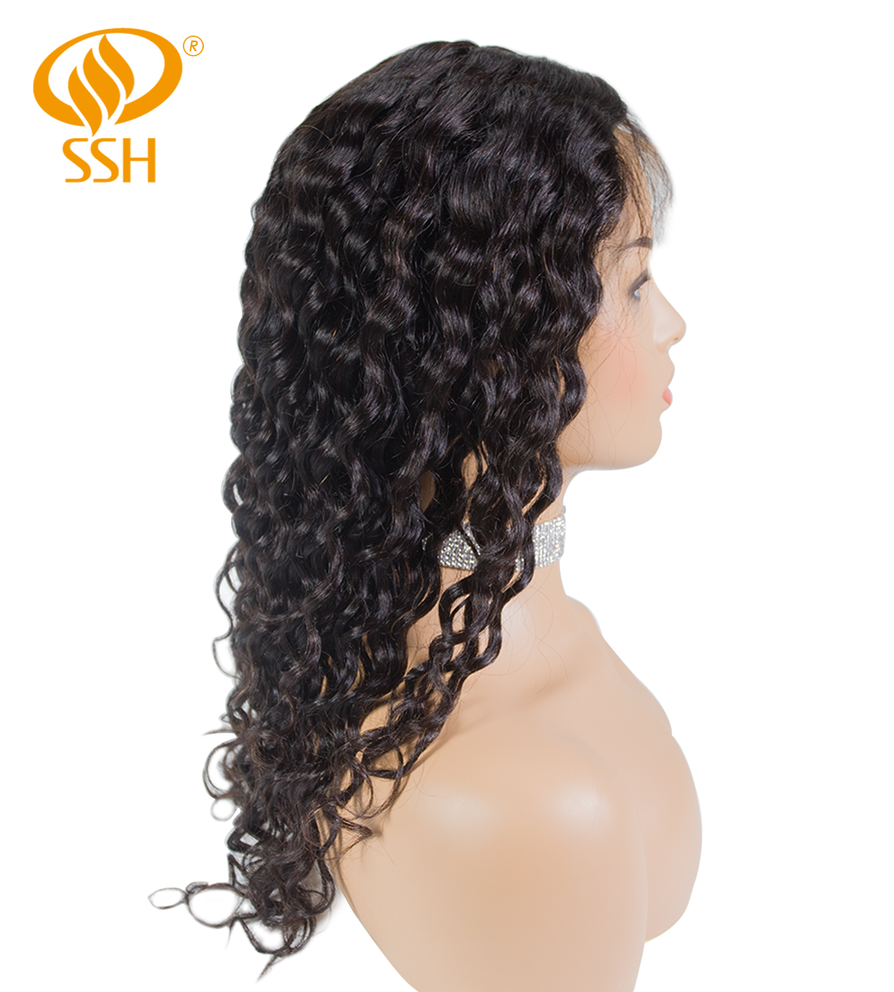 SSH Pre Plucked Remy Human Hair Wigs Brazilian Loose Wave Lace Front Wig With Baby Hair