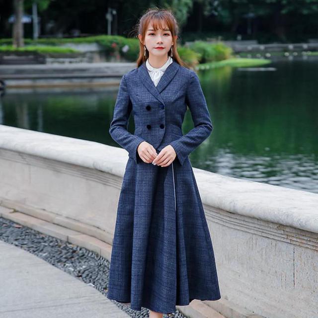 85a245efa2 Invierno Oficina señora TELA ESCOCESA gruesa chaqueta delgada 3 unidades  trajes mujeres 2019 nueva primavera de