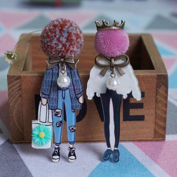 Woman Brooches Cute Badges Pins Fashion Cartoon Brooch Models Acrylic Brooches Jewelry Accessories Drop-Shipping