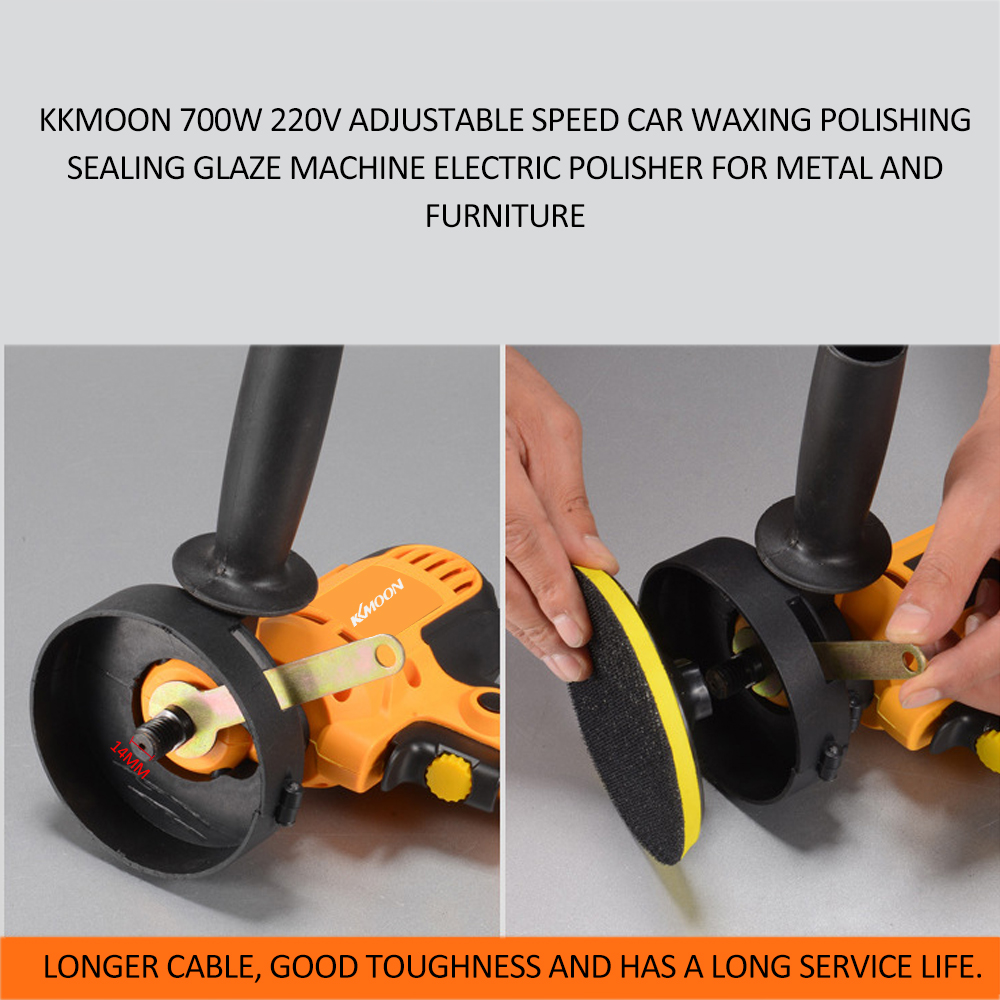 Image 5 - KKmoon 700W Car Polisher Machine Electric auto Polishing Machine Adjustable Speed Sanding Waxing Grinding Tools car accessorie-in Polishers from Tools on