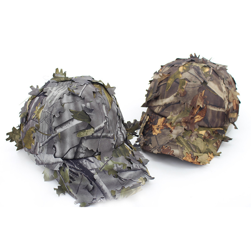 Summer Sun Jungle Leaves Camouflage Baseball Cap Camouflage Fishing Outdoor Camouflage PUBG Sniper Cosplay Cap