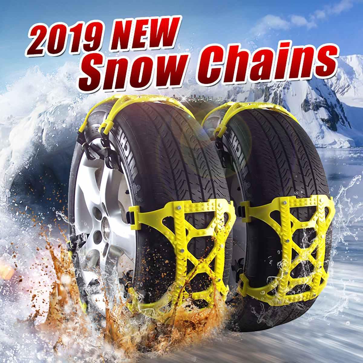 6pcs TPU Snow Chains set Universal Car Suit Tyre Winter Roadway Safety Tire Chains Snow Climbing Mud Ground Anti Slip
