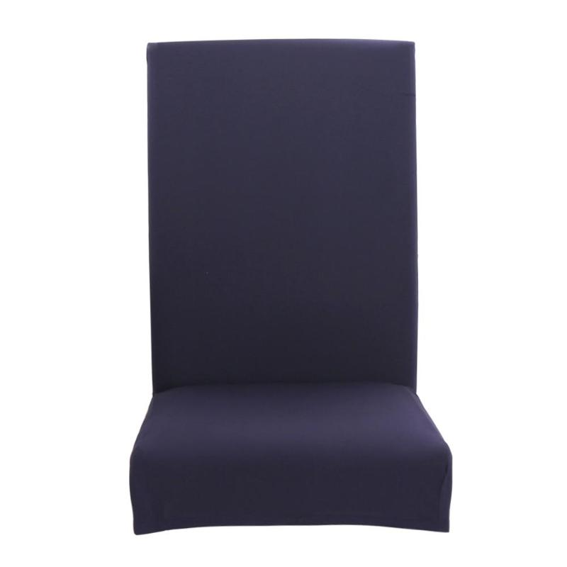 Solid Color Dining Room Chair Cover Stretch Polyester Seat Cover Geometric Anti-dirty Chair Protective Case For Home Hotel Decor