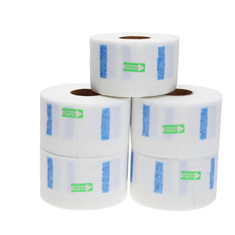 5pcs Professional Hair Cutting Salon Disposable Hairdressing Collar Neck Ruffle Roll Paper Necks Covering Accessory