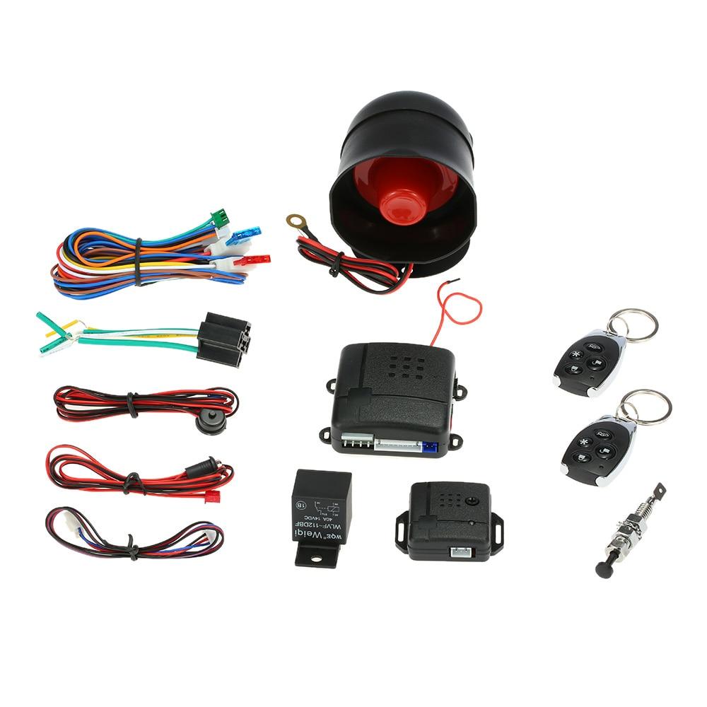 Système antivol de voiture bouton de démarrage par bouton poussoir arrêt interrupteur d'allumage RFID verrouillage sans clé entrée Anti-démarrage alarme antivol