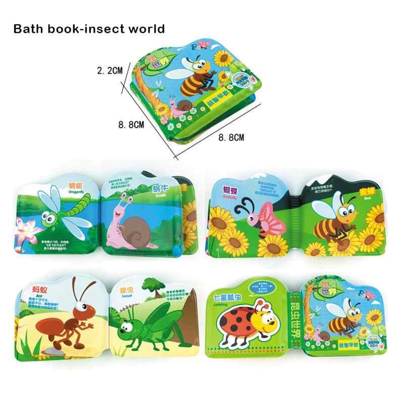ผ้านุ่มหนังสือคึกคักเสียงทารกการศึกษา Early รถเข็นเด็ก Rattle ของเล่นเด็กทารกแรกเกิดเตียง Cognition เด็กอาบน้ำของเล่นหนังสือ