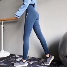 Mujer High Waisted Seamless Gym Leggings Black Letter Print Side Yoga Pants Push Up Sport Leggings Fitness Clothing For Women все цены