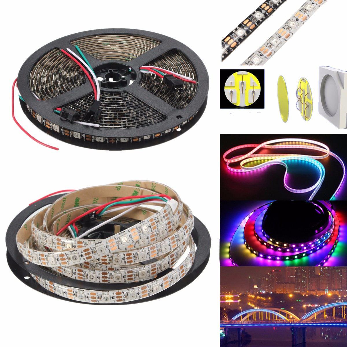 72W Super Bright LED Strip Light 4M 240LEDS WS2812B 5050 RGB Waterproof IP65 LED Strip Light Individual Addressable DC 5V