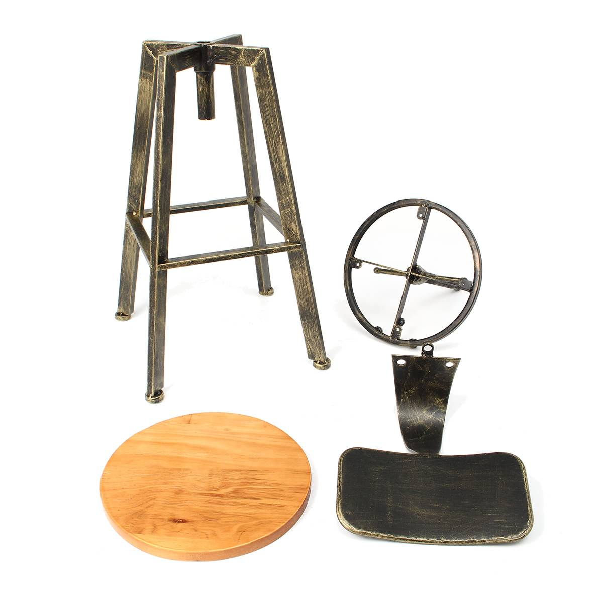 Fantastic Retro Industrial Bar Chair Stool Adjustable Wood Iron Stool 360 Degree Rotating Counter Lift High Chair Home Bar Decor 3 Colors Inzonedesignstudio Interior Chair Design Inzonedesignstudiocom