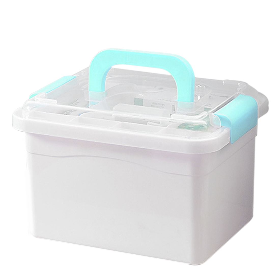 HIPSTEEN Family Multi-Functional First Aid Kit Medicine Storage Box Support  Home Office Storage Container Organizer- L