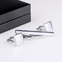 New Selling Mans Cufflinks And Tie Clips Set For Groomsmen Silver Cuff link And Tie Pin Cufflinks And Tie Bar QiQiWu CT-1017 все цены