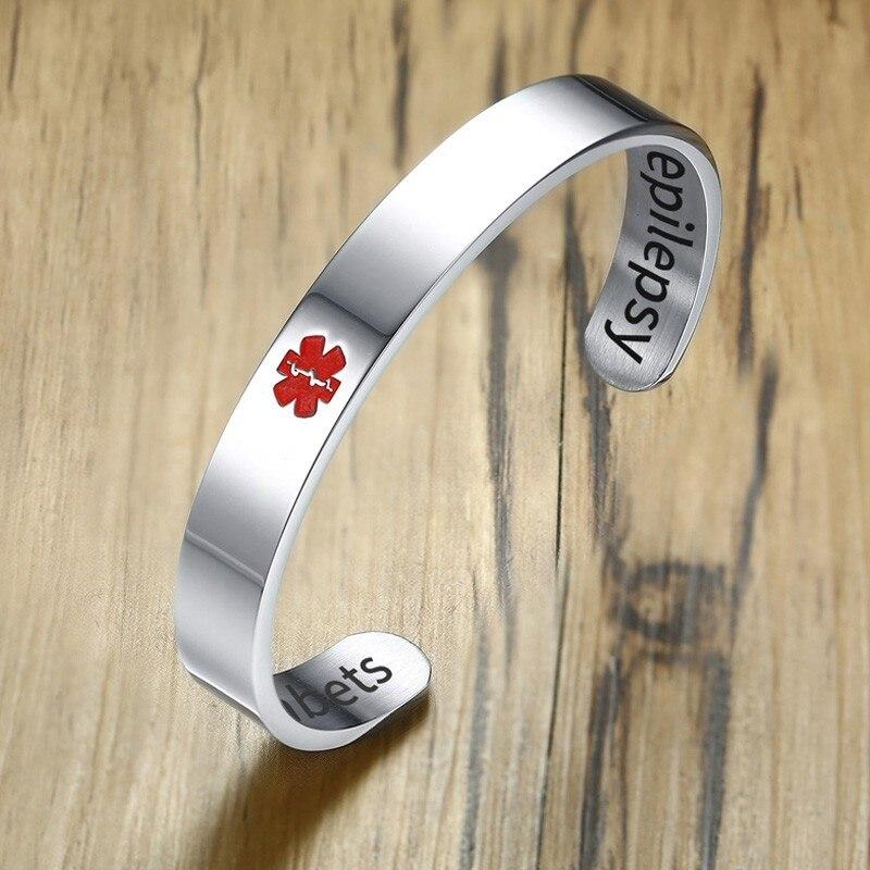 Personalised  Hand Stamped  Medical Alert Pendant