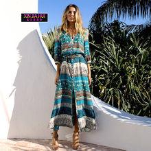 95b37c181e 2018 Amazon garnitur sukienka najlepiej sprzedających się Posimi drugi  drukowanie nowy wzór sukienka piaszczystej plaży handlu