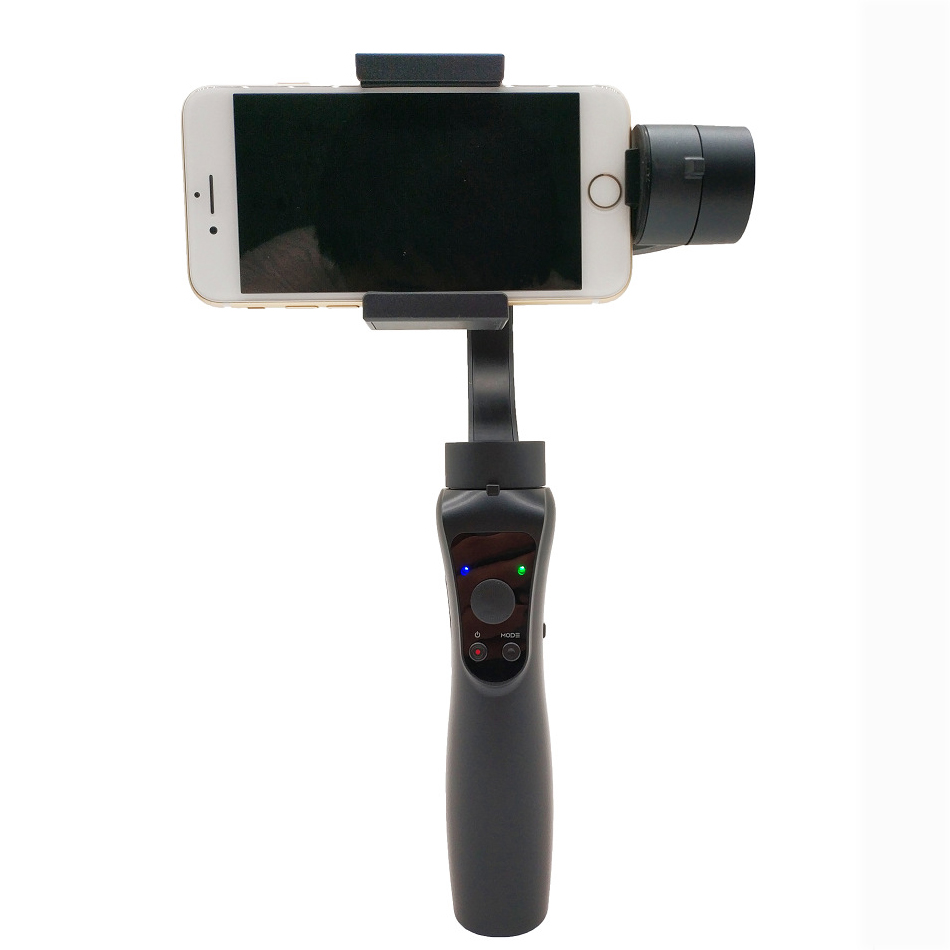 High Quality 3-Axis Handheld Gimbal Stabilizer Bluetooth APP Scan Two way  Charging Stabilizer for iphone IOS Android Cellphone