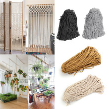 New 90Mx5mm Macrame Rope Natural Cotton Twisted Cord Artisans Hand Craft For DIY Boho Weave Home Textile Accessories 4 Colors