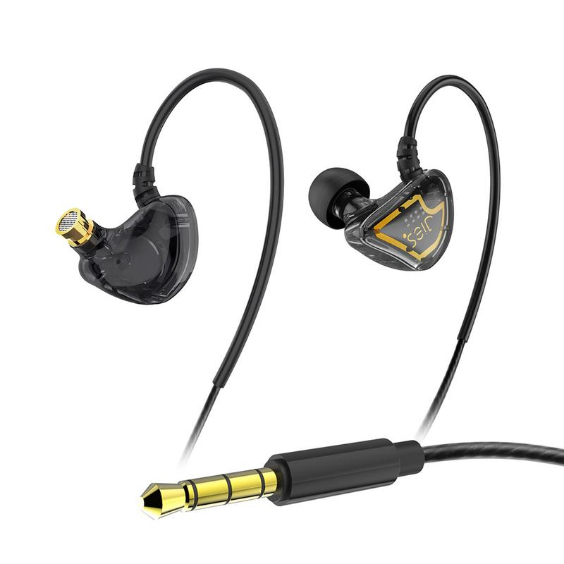 Wired Headphone With Mic HIFI Bass Waterproof Noise Reduction Wire Control Sports Running Mini Earphones Mobile Phone Universal