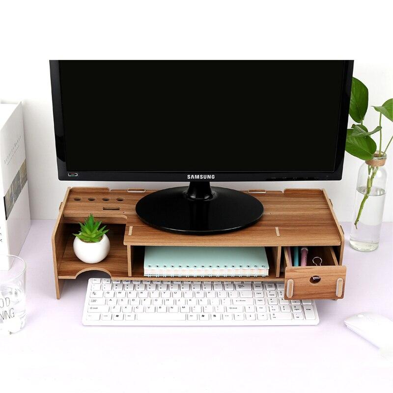 Ecran ordinateur meuble TV de bureau écran moniteur ordinateur etagere accrue caisson de rangement bureau etagere tiroir etagere clavier