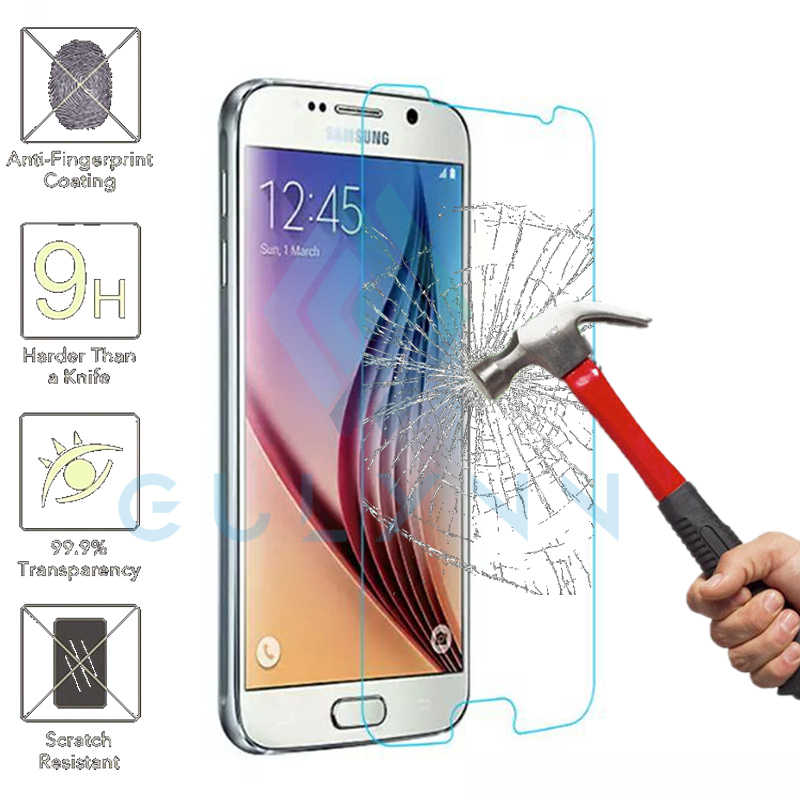 Gulymm Tempered Glass For Samsung Galaxy A3 J3 J5 J7 2017 Grand Prime A5 A7 A8 J2 Pro 2018 Screen Protector Hd Protective Film