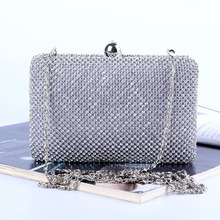 Crossbody Clutch bags purse Pure Manual Evening bags luxury Rhinestone Chain Package Bride bag Banquet Woman Package.