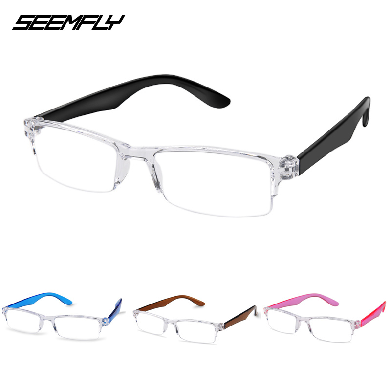 Seemfly Ultralight Reading Glasses Vintage Portable Presbyopic Glasses Magnifier Vision Eyewear Prescription Lens Unisex Glasses