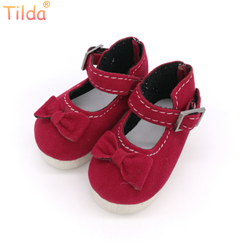 Tilda 5.6CM BJD Doll Shoes For Paola Reina Dolls Causal Sneakers Accessories For Dolls,Mini Toy Boots With Bow,Girl Doll Shoes